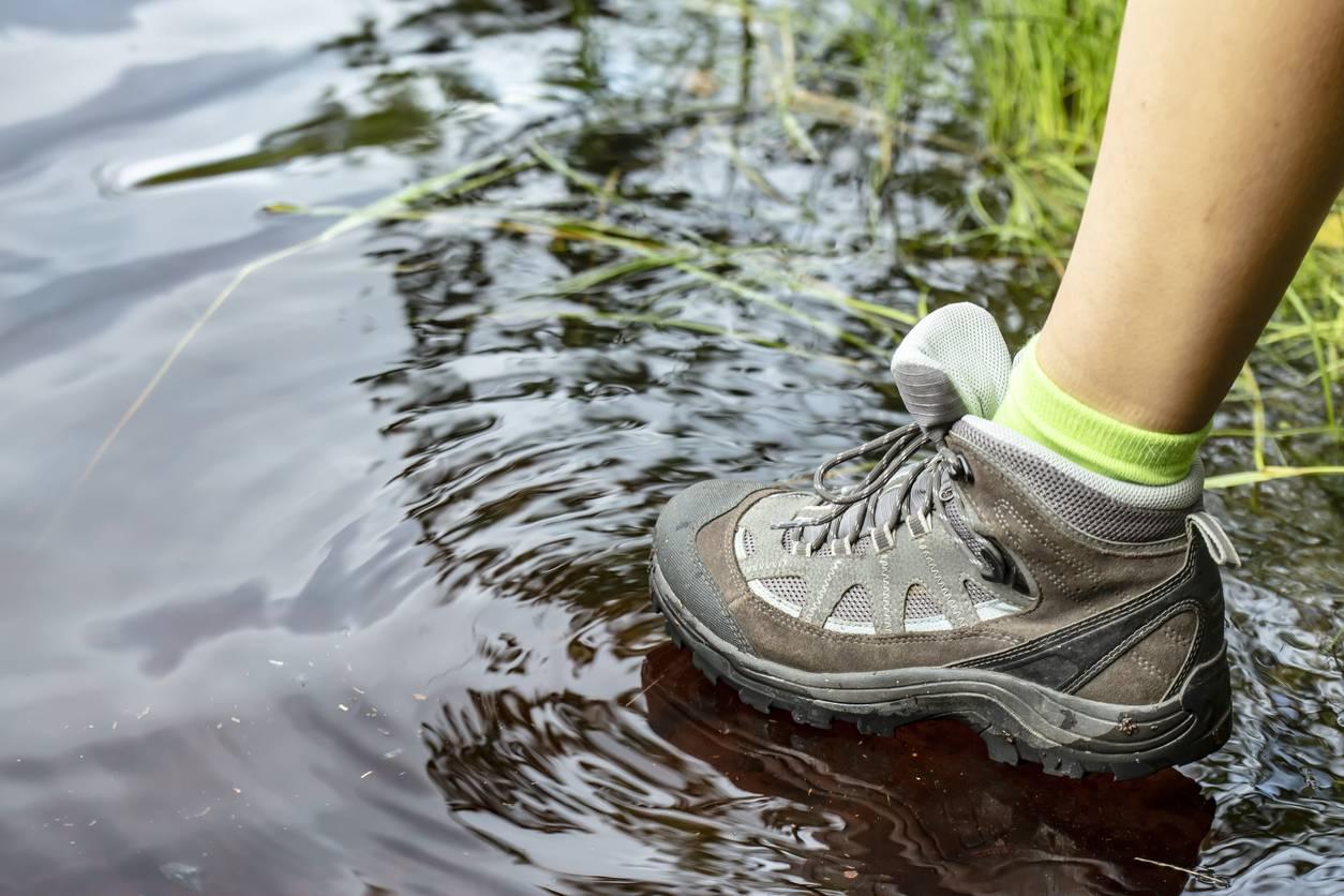 Chaussures de randonnée humide
